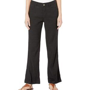 NYDJ Petite The Trouser Linen Pants Black 8P